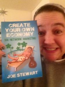 Author of Create Your Own Economy Network Marketing MLM Book Joe Stewart Facebook free giveaway