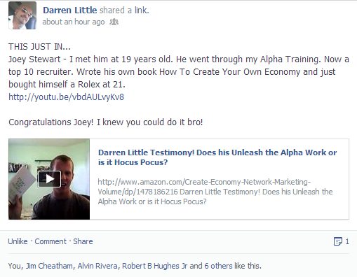 darren little quantum physics testimonial