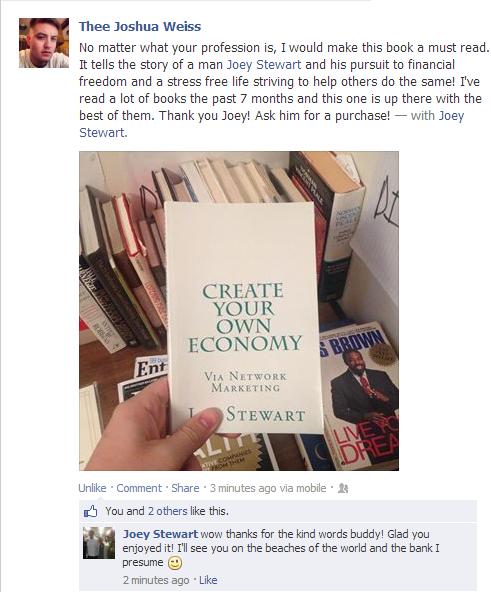 joe stewart's book testimonial