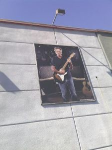Eric Clapton Sign outside Guitar Center, Hollywood CA
