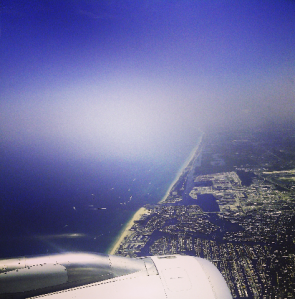 flying over ft lauderdale